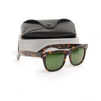 ingrosso belli occhiali da sole-Beautiful Plank black men Occhiali da sole Vendita calda Vetro di alta qualità Lente verde Lente nero bianco da donna Occhiali da sole da spiaggia Metallo cerniera occhiali da sole