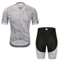 fahrrad trikot weiß groihandel-2019 neue schwarz-weiß gestreifte Radtrikot-Radhose Set Ropa Ciclismo Herren Sommer Quick Dry Triathlon BICYCLING