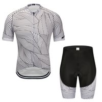 черные трикотажные комплекты оптовых-2019 новые черно-белые полосы велоспорт Джерси велосипедные шорты набор Ropa Ciclismo мужские летние быстрый сухой Триатлон велосипед