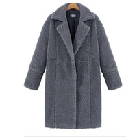 Wholesale women's woolen coat green online - Wholetide Personality Splicing Pure Color Medium Long Woolen Coat Youthful Popularity Prevent Cold And Keep Warm Women Sweaters