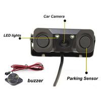 ingrosso sensore della telecamera posteriore-Dash Cam di visione notturna monitor della macchina fotografica 2 LED macchina fotografica di retrovisione con il radar del sensore di parcheggio Accessori Gps Tracker # YL5