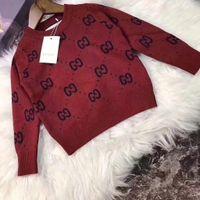 Wholesale boy pullover children resale online - Hot Sale Boy Designer Luxury Sweater Autumn Brand Design Knitted Pullover sweaters For Baby Girls Children Clothes Kids Infant Top