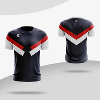 ingrosso magliette veloci secche-Custom New Men Women running Shirt Gym Fitness T-shirt Sportswear Quick Dry traspirante Badminton Shirt Tennis da tavolo Magliette Sport T-shirt