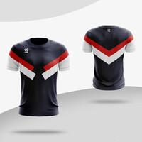 t-shirt seco rápido venda por atacado-Personalizado Novos Homens Mulheres correndo Camiseta Ginásio de Fitness T-shirt Sportswear Quick Dry Respirável Badminton Camisa Tênis De Mesa Camisas Do Esporte T-Shirts