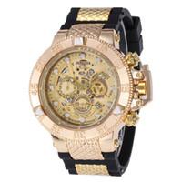 функциональный бренд оптовых-19Invicta 52 мм высокое качество кварцевые часы все указатели работают полная функция резинка из нержавеющей стали циферблат спортивные часы бренд наручные часы