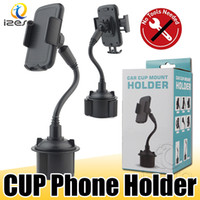 Wholesale gooseneck phone holder online – Cup Holder Phone Mount Universal Adjustable Gooseneck Car Phone Cradle for Samsung NOTE10 Plus A90 iPhone XS MAX with Retail Packaging izeso