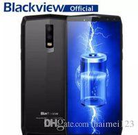 Wholesale blackview cell phones resale online - HOT Blackview P10000 Pro Smartphone quot In Cell FHD MT6763 Octa Core mAh BAK Battery V A GB RAM GB ROM G Mobile Phone