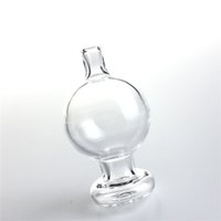 Wholesale clear balls for sale - New mm XXL Glass Carb Cap Dabber with Bubble Ball Thick Clear Glass Puffco Peak Insert Universal Caps for Quartz Banger Nail