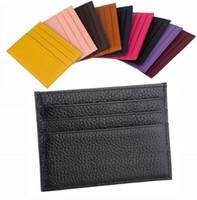 ingrosso borse portafogli preppy-porta carte di design portafogli uomo porta carte di lusso da donna borse porta carte di cuoio portamonete nero portafogli piccola borsa di design 8877673
