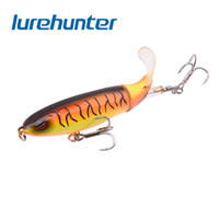 Wholesale topwater hard bait for sale - Group buy 10pcs Whopper Popper cm g Topwater Fishing Lure Artificial Hard Bait D Eyes Plopper Soft Rotating Tail Fishing Tackle