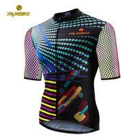 bunte radsport-trikots großhandel-YKYWBIKE Männer Radfahren Jersey Kurzarm Neue Stoff Bunte Kleidung Rennrad MTB Jersey Fahrradbekleidung Maillot Ciclismo Custom Design