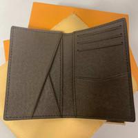 держатели карт оптовых-Отличное качество карманный организатор NM damier графит M60502 мужская натуральная кожа кошельки держатель карты N63145 n63144 кошелек id бумажник двойные сумки