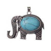 colares esculpidos venda por atacado-Elefante liga pingente de jóias antigo requintado carving elefante charme colar cadeia fina das mulheres