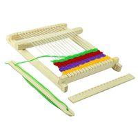 materiais modelo diy venda por atacado-DIY tear manual inventou trança modelo material científico experimento montagem puzzle brinquedos