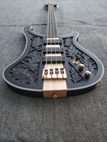 Four-string five-string electric bass, matte black body, DIY factory direct sales