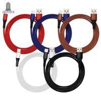 schnelles geflecht großhandel-300 teile / los Typ C / Micro USB Kabel Anti break tuch Gewebtes Nylon Geflochtene Schnelle Schnellladekabel Daten Sync Transfer Kabel Weben Seidigen Draht