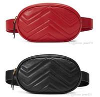 bolsa de cintura de couro feminino venda por atacado-Atacado New Fashion Pu Marca de Couro Bolsas Mulheres Sacos de Designer Fanny Packs Famosos Sacos de Cintura Bolsa Senhora Cinto peito saco 4 cores