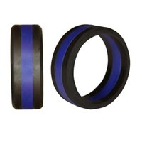 Wholesale american tire for sale - Group buy Two Tone Silicone Rings With Tire Design Ring Fashion MM Silicone Gel Outdoor Sports Rings Rubber Flexible Ring Unisex Design