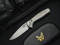 cuchillos de caza de acero d2 al por mayor-Benchmade-Kesiwo Edición limitada AXIS 781 D2 Acero Mango de aluminio Cuchillo plegable Bolsillo para acampar Supervivencia Caza Mariposa 781 Herramientas para cuchillos