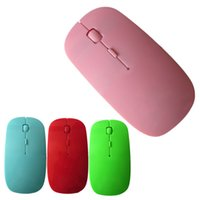 Wholesale computer mouse gifts resale online - 1200DPI GHz Ultrathin Wireless Optical Mouse USB Receiver Slim Mouse for PC Laptop Computer Gaming Mice Gift