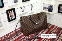 Wholesale checker boards for sale - Group buy 41366 N Brown Checker board Handbags Top Oxidized Real Leather Iconic Shoulder Bag Totes Cross Body Business Messenger Bags