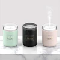 aroma-luftbefeuchter großhandel-280 ML Ultraschall Luftbefeuchter Kerze Romantische Weiches Licht USB Ätherisches Öl Diffusor Auto Luftreiniger Aroma Anion Nebelhersteller