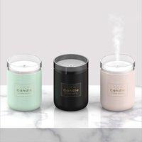 ingrosso air humidifier-280ML Ultrasonic Air Umidifier Candle Romantic Soft Light USB Diffusore di olio essenziale purificatore d'auto Aroma Anion Mist Maker