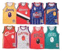 coletes de malha venda por atacado-Hot 2019 jersey de verão de basquete impressão colete moda sportswear malha de basquete colete respirável regatas mens marca clothing