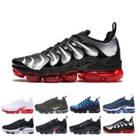 Wholesale plus size shoes boots resale online - TN Plus Sneaker Men Women Running Shoes Sunset Triple Black White Silver Patterns Game Royal Work Blue Trainer Sport Sneakers Size