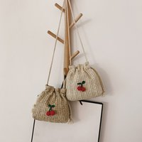 Wholesale small beach buckets resale online - Mini Beach Bag Straw Cross Body Bag Summer Women Handmade Messenger Bags Lady Straw Woven Small Shoulder Bags Handbags