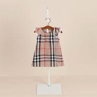 neue stil kinder kleider großhandel-Neue Art des Sommers neuer beiläufiger Mädchenkleid des Außenhandels Mehrfarbenkinderprinzessinkleid-Baumwollplaidrock der kurzen Hülse