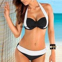 culotte grande taille pour femme achat en gros de-NOUVELLES femmes Juvénile Style Push up Soutien-gorge rembourré Bandeau taille basse bikini maillot de bain taille plus haute qualité dames Bobette