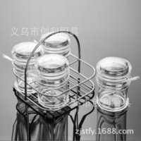 Wholesale bamboo salt box for sale - Supplies Second Gram Force pc Suit Transparent Saltcellar Kitchen Restaurant Articles pc To Flavor Canister Box Packing