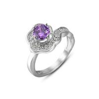 anillo de humor de alta calidad al por mayor-Jingyang acero inoxidable anillos simples de alta calidad para mujeres anillo de estado de ánimo latido violeta anillo femenino accesorios de joyería joyería