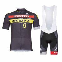 scott radfahren sets großhandel-SCOTT Team Radfahren mit kurzen Ärmeln Trikot (Trägerhose) setzt Kleidung Fahrradbekleidung Sommer Ciclismo Ropa Hombre Maillot Sportwear 101023F