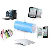 micrófonos dirigidos al por mayor-3.5 mm de inserción directa Mini altavoz estéreo Micrófono Altavoz portátil Reproductor de música MP3 para teléfono móvil Tableta PC