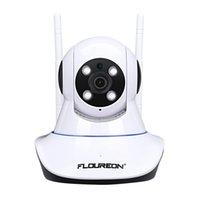 Wholesale camera sd ir ip for sale - FLOUREON P MP Indoor IPC WIFI H Wireless PT IR CUT TF Micro SD Card Slot Nanny Baby Monitor IP Camera EU