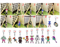 Wholesale adult anime character online - 40 Styles Game Fortnite Character Acrylic Kechain Cartoon Figure bag Pedant Anime Key Chains for Children Adults Fans Xmas Key ring Gift