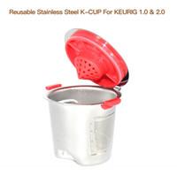 keuriger kaffee großhandel-Wiederverwendbare Edelstahl K Tassen für Keurig Maschine Kaffee Filter Kapsel Durable Silber Tee Tumbler Praktische 16 99lk BB