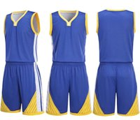 Wholesale basketball sports suit for sale - Group buy 2019 Wear basketball uniform on both sides breathable dry basketball suit Personality Customized Basketball men Sports clothes tracksuits