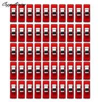 máquinas de coser colcha al por mayor-Máquina de coser Herramientas de costura 50 PCS Claro Craft Quilt Binding clips de plástico Pinzas Accesorios Paquete portátil 30D15