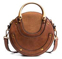 Wholesale shiny leather handbags for sale - Group buy Fashion New Handbag High quality PU Leather Shiny Mini Cute Large Ear Round Bag Shoulder Messenger Bags