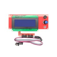 Wholesale lcd panel module resale online - 3D Printer Kit Smart Parts RAMPS Controller Control Panel LCD Module Display Motherboard Blue Screen