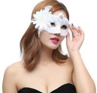 Wholesale black white mask party supplies resale online - Made up Ball Princess Mask and Flower Rim Mask Dance Supplies Party props birthday mask WL741