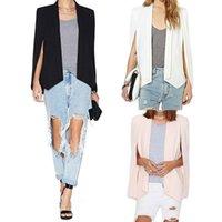 ingrosso blazers di moda unici-Disegno unico 3 del rivestimento degli abiti da lavoro del vestito del capo del manicotto femminile della giacca sportiva della donna calda di modo casuale Trasporto libero