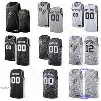 12 ekran toptan satış-Ekran Baskı Basketbol Demar Derozan Jersey 10 LaMarcus Aldridge 12 Bryn Forbes Derrick Beyaz Dejounte Murray İl Sürümü Kazanılan bitirdi