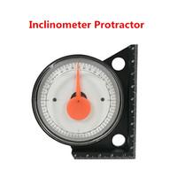 medidor de ángulo al por mayor-Mini inclinómetro transportador Medidor de nivel de inclinación Buscador de ángulo Clinómetro Medidor de ángulo de inclinación con base magnética