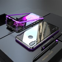 huawei couverture magnétique achat en gros de-Cas Magnétique De Luxe Pour Huawei Nova 3 Compagnon 20 P20 Pro Lite Bumper Verre Couverture Arrière Huawei Nova 3i Cas Mate20 P20Pro