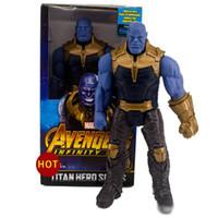 muñecas de cine al por mayor-2019 nueva llegada Avengers 3 Marvel Movies Figuras de acción 30CM Hulk Thanos Hulkbuster Activity dolls model toys