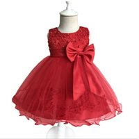 neues jahr minikleid großhandel-Babykleid Kleine Prinzessinkleid Neue Spitze Hohe Taille Prinzessinnenrock 0-2 Jahre alt Erstes Jahr altes Kleid des ausgewachsenen Babys